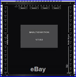 Multiswitch HDTV 17/32 Centrale 4 satellites 1 terrestre / 32 démos Diseqc