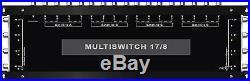 Multiswitch HDTV 17/8 Centrale 4 satellites 1 terrestre 8 démodulateurs Diseqc