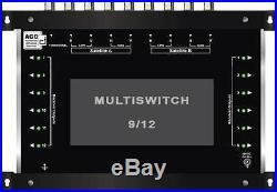 Multiswitch HDTV 9/12 Centrale 2 satellites 1 terrestre / 12 démos Diseqc