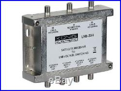 Multiswitch LNB for Satellite and Terrestrial with 3 inputs and 4 outputs