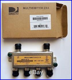 NEW DIRECTV 2X4 Multiswitch MS2X4R0-03 Satellite Dual LNB 950-1450 MHZ