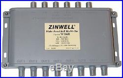 NEW Directv 6x8 Multi-Switch DTV Wide-Band Ka/Ku Slimline Satellite Dish Switch