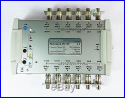 New Vision V5-512 Multiswitch TV coax coaxial Satellite 12 No. Of Outputs UK