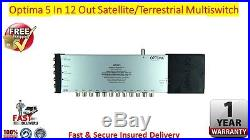 Optima 5 In x 12 Out 4K/3D HD Ready Satellite & Terrestrial Multiswitch FREE P&P