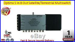 Optima 5 In x 8 Out 4K/3D HD Ready Satellite & Terrestrial Multiswitch FREE P&P
