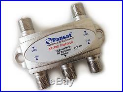 Pansat Wideband 4x1 DiSEqC 1.0 Premium Satellite Switch for FTA Multi-LNBF