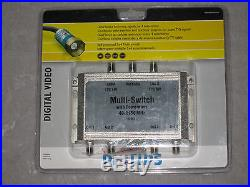 Philips 3x4 Multi-Switch with Powerpass Digital Video TV Cable Satellite