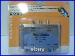 Philips 3x4 Multi-Switch with Powerpass Digital Video TV Cable Satellite New
