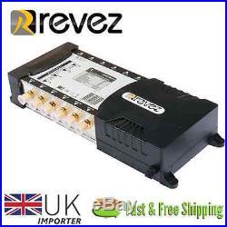 Revez Gold Premium 9x12 Satellite Terrestrial Multiswitch 9 inputs 12 outputs