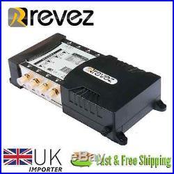 Revez Gold Premium 9x8 Satellite Terrestrial Multiswitch 9 inputs 8 outputs NEW