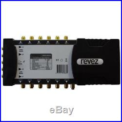 Revez MSG512 5 In 12 Out Satellite & Terrestrial Multiswitch Use Quattro LNB