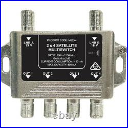 Satellite Multiswitch Ms2x4 Multiswitch 2 Wire 4 Out Foxtel Approved F30931