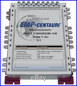 Satellite multiswitch 17/20 (17x20) MS17/20ECP-12, Made in EU, 4yrs. WNTY