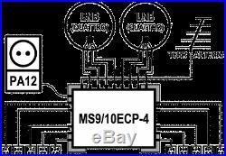 Satellite multiswitch 9/10 (9x10) MS9/10ECP-4, Made in EU, 4yrs. WNTY