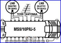 Satellite multiswitch MS9/10PIU-5 (9inputs, 10outputs), Made in EU, 4yrs. WNTY