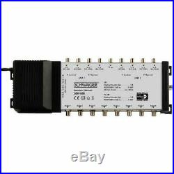 Schwaiger SEW4098531 9 / 8 DiSEqC Satellite Multiswitch Silver