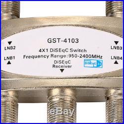 Switch 4X1 DiSEqC Satellite Dish FTA Receiver 4x1 Multi LNB LNBF F Plug BI129