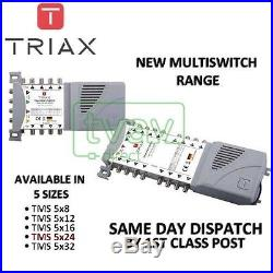 TRIAX Nuovo ECO Gamma Di Multiswitch TMS 5 x 24 Satellite Multi interruttore