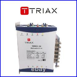 Triax TMM 9×24 Multiswitch Cascade 8 Satellite +1 Terrestrial Inputs 24 Out