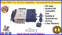 Triax TMP LTE 5 x 16 Satellite & Terrestrial Multiswitch Use Quattro LNB