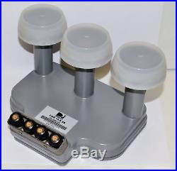 Triple LNB for 18X20 Directv Dish built in 4 room multi-switch Satellite Output