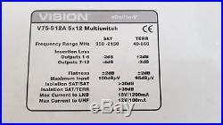 Vision Multiswitch V75 512A slimline -V satellite distribution sky