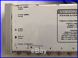 Vision V75-512A 5x12 Satellite / Terrestrial Multi Switch