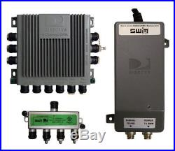 Winegard SWM-840 Trav'Ler (TM) Satellite Tv Antenna Single Wire Multi-Switch Kit