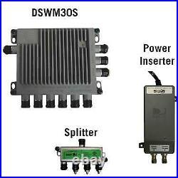 Winegard Swm-D30 Satellite Tv Antenna Single Wire Multi-Switch Kit