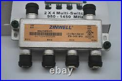 ZINWELL 2x4 SATELLITE MultiSwitch 4 OUTPUTS MS2X4R0-03 FTA LEGACY DIRECTV